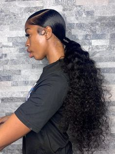 Hair Ponytail Styles, Weave Ponytail Hairstyles, Baddie Hairstyles, Sleek Ponytail, Curly Hair Styles, Natural Hair Styles, Loose Hairstyles, Black Girl Ponytails, Black Girls Hairstyles