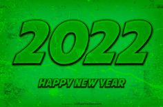 Free New Year Green Background 2022 Illustration