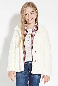 Girls Faux Fur Coat (Kids) | Forever 21 girls #forever21kids