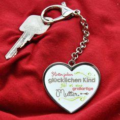 Herz Anhänger mit Wunschtext für Mütter