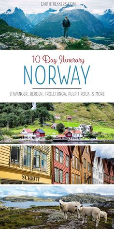10 Days in Norway Itinerary. Hike the best places: Trolltunga, Kjeragbolten, and Pulpit Rock. Drive Trollstigen. See Geirangerfjord. Visit Oslo, Stavanger, Bergen, and Alesund.