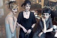 Paris, je t'aime | Coco, Agyness, Sasha, Caroline by Steven Meisel for Vogue US September 2007