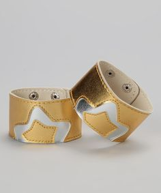 Take a look at this Gold & Silver Star Cuff Set by Bubblegum Diva on #zulily today!