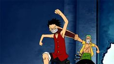 One Piece - Zoro and Luffy