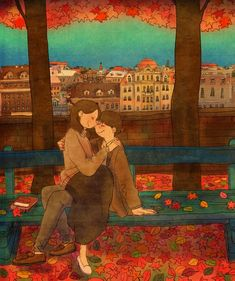 I wanted hug you br punnng puuung love is love illustration