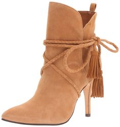 efe4c6e004fc Schutz Women's Fadhila Ankle Bootie, Brownie, 6.5 M US. Notched shaft with  pull