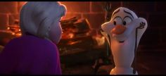 """""""Olaf your melting!"""" """"Some people are worth melting for. But maybe not right this second"""""""