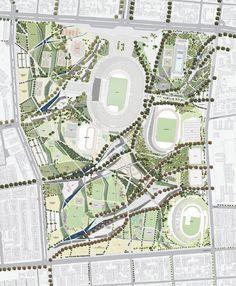 Bosch3 Stadium Architecture, Landscape Architecture, Landscape Design, Site Development Plan, Urban Design Plan, Sports Clubs, Master Plan, Urban Planning, University