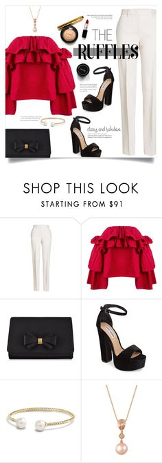 """the ruffle"" by keziatmrskasrf ❤ liked on Polyvore featuring Jil Sander, Erika Cavallini Semi-Couture, Ted Baker, Steve Madden, David Yurman and LE VIAN"