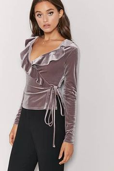 Shop Forever collection of velvet tops. Find fun styles like bodysuits, crop tops, long sleeves + more! Forever 21 is sure to have the perfect velvet top for you. Velvet Tops, Latest Trends, Forever 21, Rompers, Womens Fashion, Casual, How To Wear, Outfits, Shopping