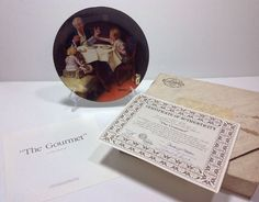 Norman Rockwell The Gourmet Rockwell Heritage Collection Plate 2972 F Bradex