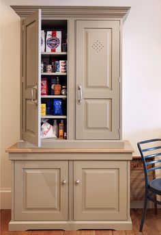 free standing kitchen pantry cabinet | Painted Kitchens, Bedrooms & Furniture, Handmade in Britain since 1972