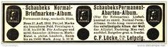 Original-Werbung/ Anzeige 1915 - SCHAUBEK'S BRIEFMARKEN - ALBUM - ca. 110 x 30 mm