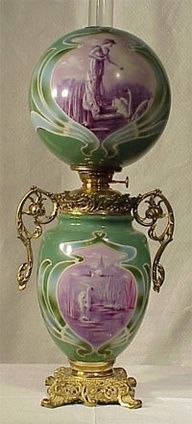 Victorian Parlor, Gone With The Wind, Antique Kerosene Lamp