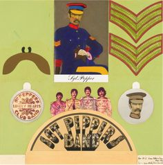 Sgt. Peppers Lonely Hearts Club Band Original Collage Cut Out The Beatles
