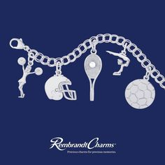Support a family member during their fall sport season with a charm on your bracelet from Rembrandt!