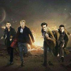 9, 10, 11, 12 Doctor - Chirstopher Eccleston, David Tennant, Matt Smith, Peter Capaldi