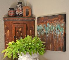 Metal Effects Canvas Art | How to on the Modern Masters Blog by Debbie Hayes