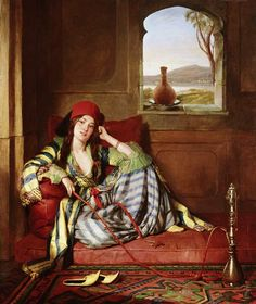 by John Frederick Lewis - Favourite of the Harem