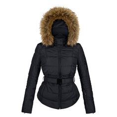 Poivre Blanc Quilted Faux Fur Womens Ski Jacket in Black £299.00