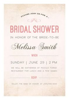 here comes the bride free bridal shower invitation template