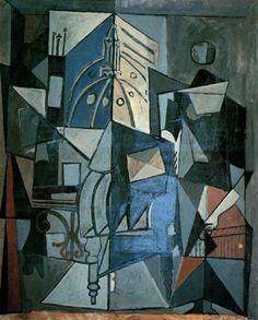 Pablo Picasso, 1919 Vue sur le clocher de l'église Saint-Augustin on ArtStack #pablo-picasso #art