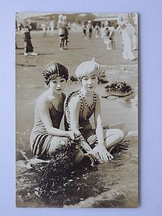 Japanese Old Postcard Oiran Geisha Maiko Woman 1-332 Swimming Suit