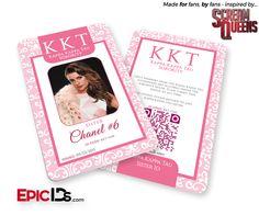 "Scream Queens Inspired ""Chanel #6"" Kappa Kappa Kappa Tau Sorority ID (Clean)"