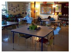 A cooperative learning classroom