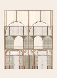 Ruth Pearn envisions public bathhouse to fight period poverty in Yorkshire Kingston, Architecture Drawings, Facade Architecture, Architecture Career, Architecture Collage, Architecture Portfolio, Sustainable Architecture, Art Deco, Facade Design