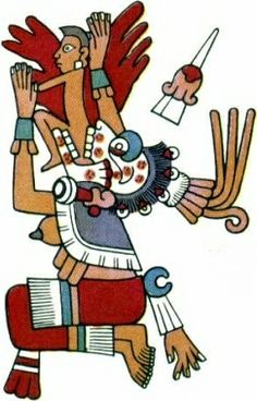MICTECACÍHUATL | Aztec queen of Mictlán, the underworld, ruling over the afterlife with Mictlantecuhtli, who is her husband. Her role is to watch over the bones of the dead and preside over the ancient festivals of the dead.