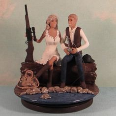 Cake Topper Idea Would Just Have To Paint The Hair A Different Color