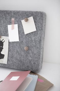 DIY Felt Panels pinboard in the style of NORM for Menu