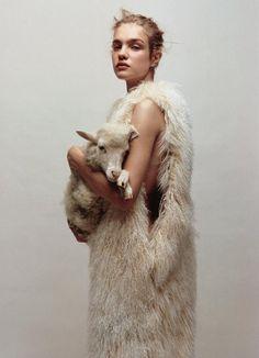 Natalia Vodianova by Jean-Baptiste Mondino for Numero