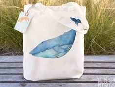 Blue Whale Tote Bag, Ethically Produced Reusable Shopper Bag, Cotton Tote, Shopping Bag, Eco Tote Bag, Reusable Grocery Bag by ceridwenDESIGN on Etsy https://www.etsy.com/listing/221592943/blue-whale-tote-bag-ethically-produced