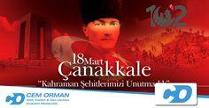 Çanakkale Zaferi'mizin 102. yıl dönümünde bizler için, bu vatan için canlarını veren başta Mustafa Kemal Atatürk olmak üzere tüm şehitlerimizi rahmet ve minnetle anıyorum. Yaşa Mustafa Kemal Paşa Yaşa. Ne Mutlu Türküm Diyene!