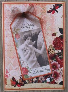,gorgeous vintage foto card