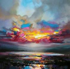 Scott Naismith (Scottish, b. 1978, South Lanarkshire, Scotland) - Primary Sky, 2012  Paintings: Oil on Canvas