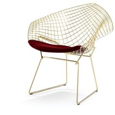 Knoll Bertoia diamond chair ($3,875) ❤ liked on Polyvore featuring home, furniture, chairs, modern home furniture, mod furniture, harlequin furniture, modern furniture and knoll chair