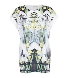 White mirrored Dove print oversized t-shirt £22.00