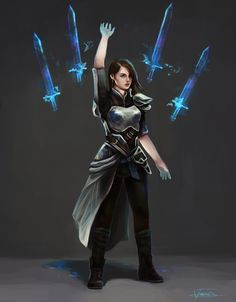 Weapon Summoner by Josephine-frays on DeviantArt Dungeons And Dragons Characters, Dnd Characters, Fantasy Characters, Female Characters, Fantasy Character Design, Character Concept, Character Art, Concept Art, Fantasy Inspiration