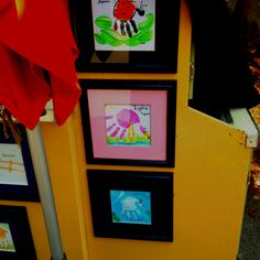 Handprint crafts - ladybug, flamingo & billy goat