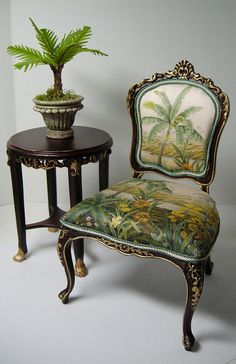 1:6 scale reupholstered Bespaq Chair by Ken Haseltine Regent Miniatures, via Flickr