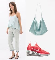 When packing for any of these festivals, remember that this time convenience is far more important than appearance! Here's some suggestions - available in every major city. Jeans: Zara, bag: COS, shoes: Nike   Festival Wear - Danube Island Vienna Shopping Route http://shoptrotter.com/users/shoptrotters/routes/mango-to-nike-2014-06-26/