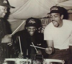 N.W.A. with Dr. Dre, Eazy-E and The DOC.