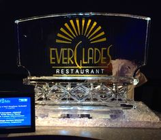 "Color ice sculpture for a local restaurant featured at ""A Taste of Disney"" #icesculptures"