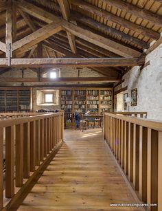 En esta imagen la magnífica biblioteca, que mantiene su especial ambiente.