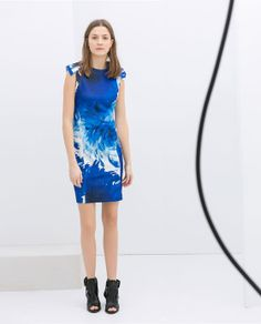 ZARA - WOMAN - FLOWER PRINT SHIFT DRESS