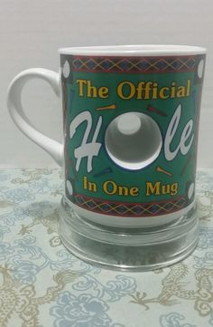The Official Hole In One Mug novelty cup stocking stuffer gifts for men golfers in Collectibles, Decorative Collectibles, Mugs, Cups   eBay