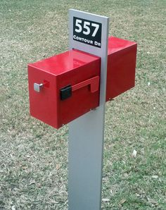 Retro Modern Mailbox by RetroHandmadeUniques on Etsy